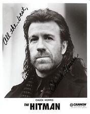 CHUCK NORRIS - THE HITMAN  SIGNED  B&W  Reprint