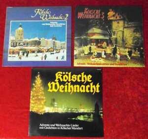 3 Langspielplatten  KÖLSCHE WEIHNACHT  - Vinylsammlung -