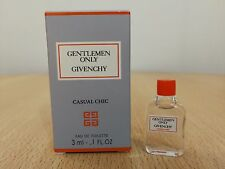 Gentlemen Only Casual Chic Givenchy for men EDT 3ml MINI MINIATURE FRAGRANCE NEW
