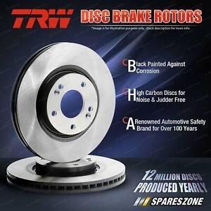 2x Front TRW Disc Rotors for Holden Astra Convertible AH TS Zafira TT OD 280mm