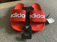 Adidas Adilette Comfort Slides Red Sandals Mens - F34725 SIZE 9 NEW
