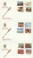 Senate Of Canada cachet -FDC 1982 --#955-966 ON 3 FDC's