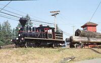 Logging Railroad Steam Locomotive DUNCAN BC Forest Museum Original Photo Slide