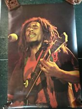 "Original BOB MARLEY Poster, RARE VINTAGE 1976, Printed in Scotland, 24.5"" x 37"""