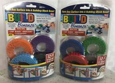 Lot of 2 (Two) Build Bonanza Peel and Stick Building Blocks-24 Feet-8 Colors