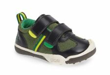 Black Shoes Caterpillar Baldwin Boys Leather Hook /& Loop Trainers