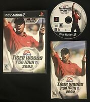 Tiger Woods PGA Tour PS2 Sony PlayStation 2 Video Game Golf CIB TESTED COMPLETE