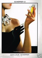 Publicité advertising 1990 Parfum Jean Louis Scherrer 2