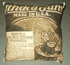 "New Ithaca Firearms Throw Pillow 16"" x 16"" Free Shipping - Great for Man Cave !"