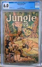 Jungle Comics #106 (1948) CGC 6.0 -- O/w to white pgs; bondage cover; Matt Baker