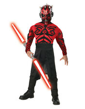 "Star Wars Kids Darth Maul Muscle Costume S3, Large,Age 8-10,HEIGHT 4' 8"" - 5' 0"""