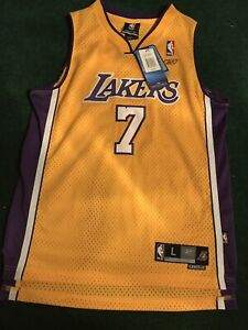 Reebok NBA Los Angeles LA Lakers Lamar Odom 7 Swingman Jersey