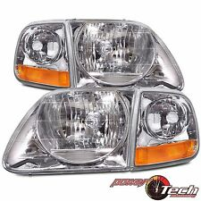 F150/EXPEDITION HEADLIGHTS HEADLAMPS CORNERS 4 PC SET 97 98 99 00 01 02 03