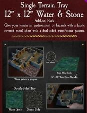 "Dwarven Forge 12"" X 12"" WATER-STONE METAL TRAY ADD-ON Dungeons of Doom 2018 D&D"