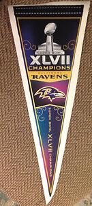 "10""x29"" Super Bowl XLVII 47 Pennant Baltimore Ravens Fathead Wall Graphics Vinyl"