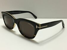 NEW Tom Ford Snowdon TF237 05J James Bond 007 Black Havana/Brown Gradient