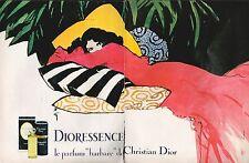 ▬► PUBLICITE ADVERTISING AD PARFUM PERFUME CHRISTIAN DIOR DIORESSENCE RENE GRUAU