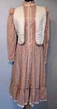 Vintage 70's Gunne Sax Dress w/ Vest Sz. 9 Calico Ruffled Skirt #1322 H
