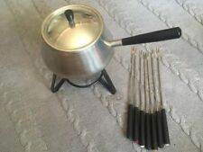 Vintage Stainless Steel Fondou Set With Forks