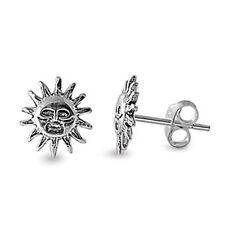 Celestial SUN Earrings - 9 mm - .925 Sterling Silver  (531)