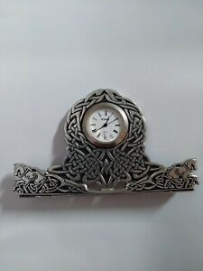St Justin Pewter Small Clock