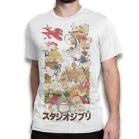 Studio Ghibli Anime T-Shirt, Hayao Miyazaki Original Art Shirt, All Sizes
