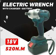 18V Rechargeable Electric Cordless Brushless Impact Wrench with 2 batteries