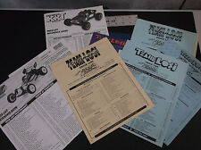 VINTAGE TEAM LOSI LITERATURE INCL PRICE LISTS  + EXTRAS  XXCR KINWALD *VG-COND*
