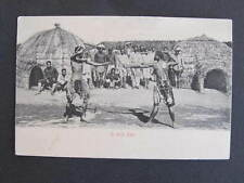 Stick Fight Natives South Africa Postcard
