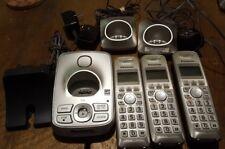 Lot of 3 Panasonic KX-TGA421 1.9 GHz Cordless Phone Lot With Docks
