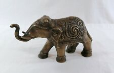 Vintage Solid Brass Elephant Very detailed Trunk Up for Good Luck!