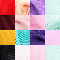 1M DIY Sewing Soft Pleated Chiffon Wedding Fabric Craft Material Dress