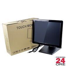 """17"""" LCD Touch Screen Monitor POS con USB VGA Ristorante Bar Pub Negozio"""
