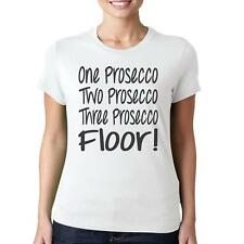 Prosecco Floor - Funny Women's Novelty T-Shirt - Drinking Games Hen Party Top