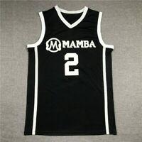 Gianna Bryant #2 GiGi Mamba Basketball Jerseys Stitched Black White Size S-3XL