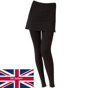 Just Essentials Women's / Girls 2 in 1 Leggings & Skirt Skeggings Long Leg Black