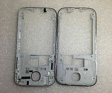For Samsung Galaxy S4 i9505 Housing Middle Frame Chassis Plastic Bezel Silver
