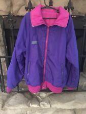 Nice! Little Girl's Size Large 14-16 Columbia Jacket Reversible Rain Windbreaker