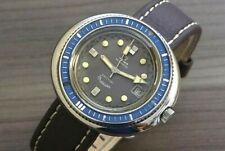 "1970's VINTAGE YEMA WRISTMASTER 660 FEET ""DIVERS"" 21J S/S AUTOMATIC MENS WATCH"