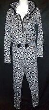 New KENSiE snowflake fleece ears hood 1-pc pajama jump suit sleeper soft gift M