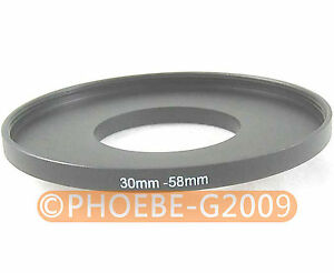 30mm to 58mm 30-58 mm Step Up Filter Ring Adapter
