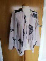 Ladies Jacket Size 10 12 Blush PINK Chiffon Waterfall Butterfly Festival Party