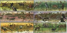 Burundi 1355-1378 quad strip (complete.issue.) fine used / cancelled 1977 Wildli