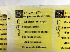 Ceramic decals Serenity Prayer in old English print Lot of 30