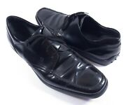 Tod's Mens Lace Leather Black Shoes - Size 11 - Made In Italy