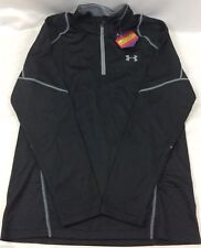 Under Armour Pullover Long Sleeve 1/4 Zip Shirt Fitted Black Men's Size Large