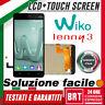 DISPLAY LCD+TOUCH SCREEN PER WIKO LENNY 3 SCHERMO PANNELLO VETRO NERO BRT_24H!