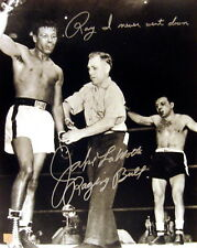 Jake LaMotta Raging Bull Autographed Signed 16x20 Photo vs Sugar Ray ASI Proof