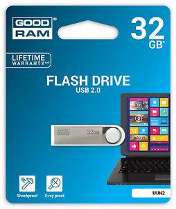 32gb USB Stick 2.0 Unity GoodRam flash drive silber klein mini