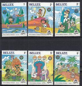 (685415) Belize MNH Disney Small World 1985 unmounted mint
